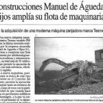 Construcciones M Águeda e Hijos amplía su flota de maquinaria