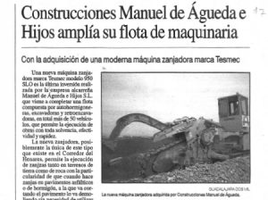 Constructions M Agueda e Hijos expands its fleet of machinery
